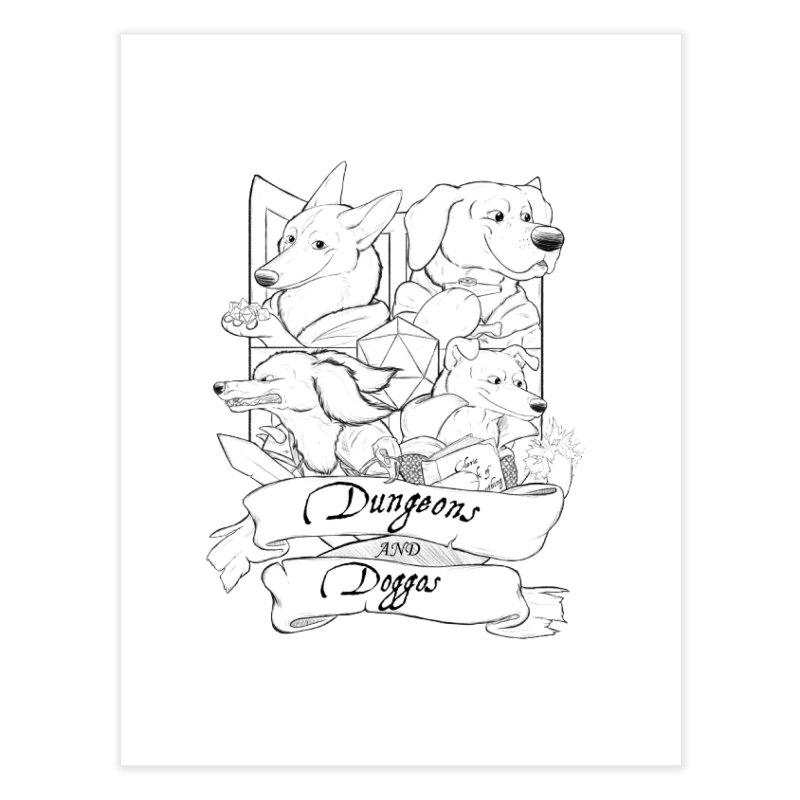 DnDoggos Emblem Home Fine Art Print by DnDoggos's Artist Shop