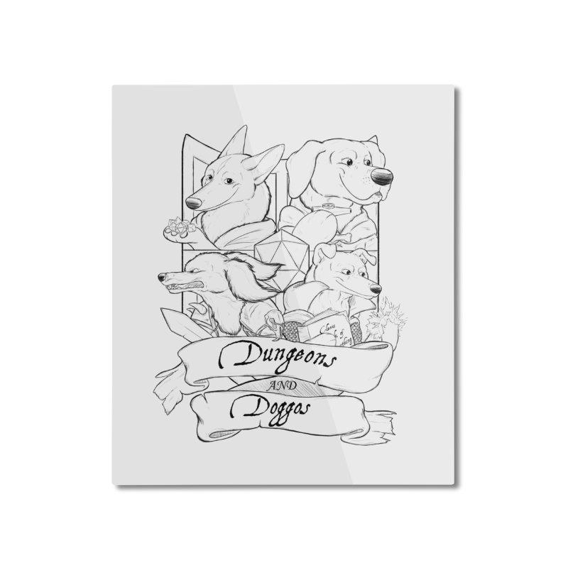 DnDoggos Emblem Home Mounted Aluminum Print by DnDoggos's Artist Shop