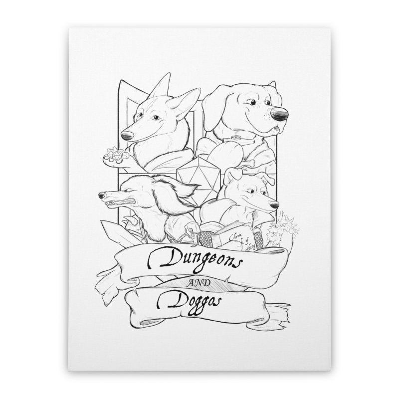 DnDoggos Emblem Home Stretched Canvas by DnDoggos's Artist Shop