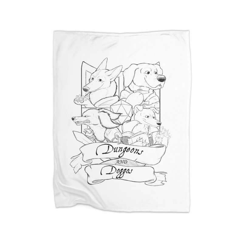 DnDoggos Emblem Home Fleece Blanket Blanket by DnDoggos's Artist Shop
