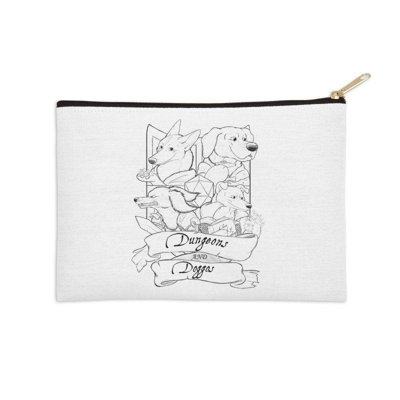 DnDoggos Emblem Accessories Zip Pouch by DnDoggos's Artist Shop