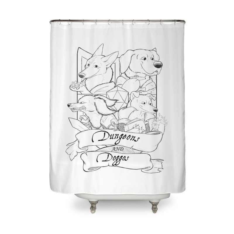 DnDoggos Emblem Home Shower Curtain by DnDoggos's Artist Shop