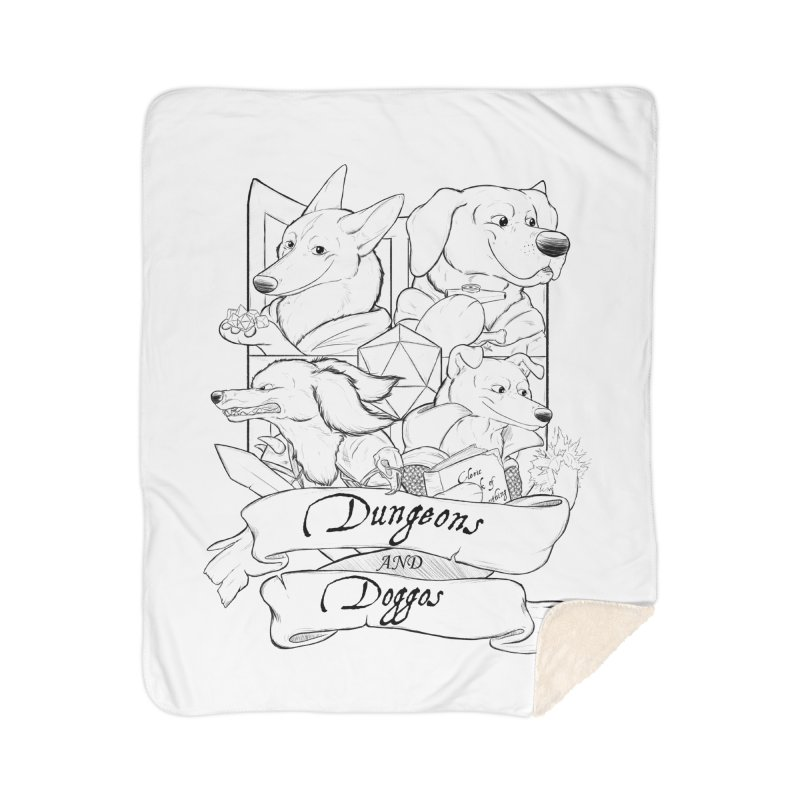 DnDoggos Emblem Home Sherpa Blanket Blanket by DnDoggos's Artist Shop