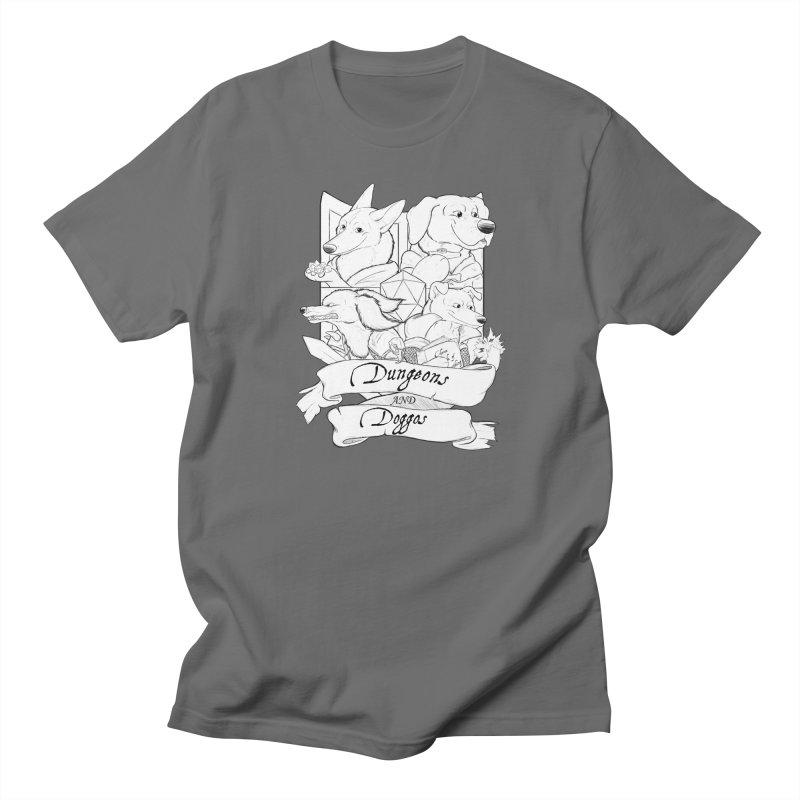 DnDoggos Emblem Men's T-Shirt by DnDoggos's Artist Shop