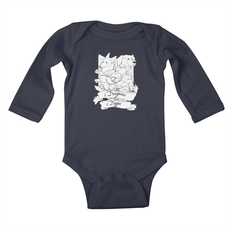 DnDoggos Emblem Kids Baby Longsleeve Bodysuit by DnDoggos's Artist Shop