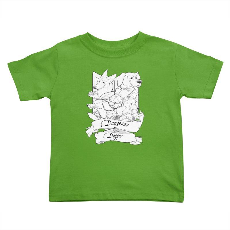 DnDoggos Emblem Kids Toddler T-Shirt by DnDoggos's Artist Shop
