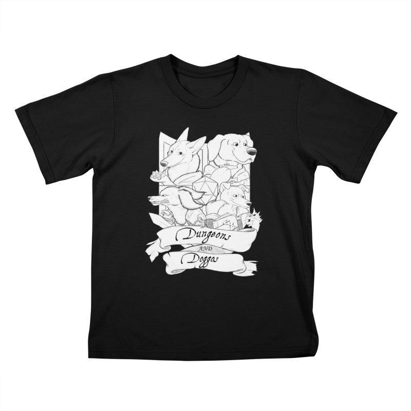DnDoggos Emblem Kids T-Shirt by DnDoggos's Artist Shop