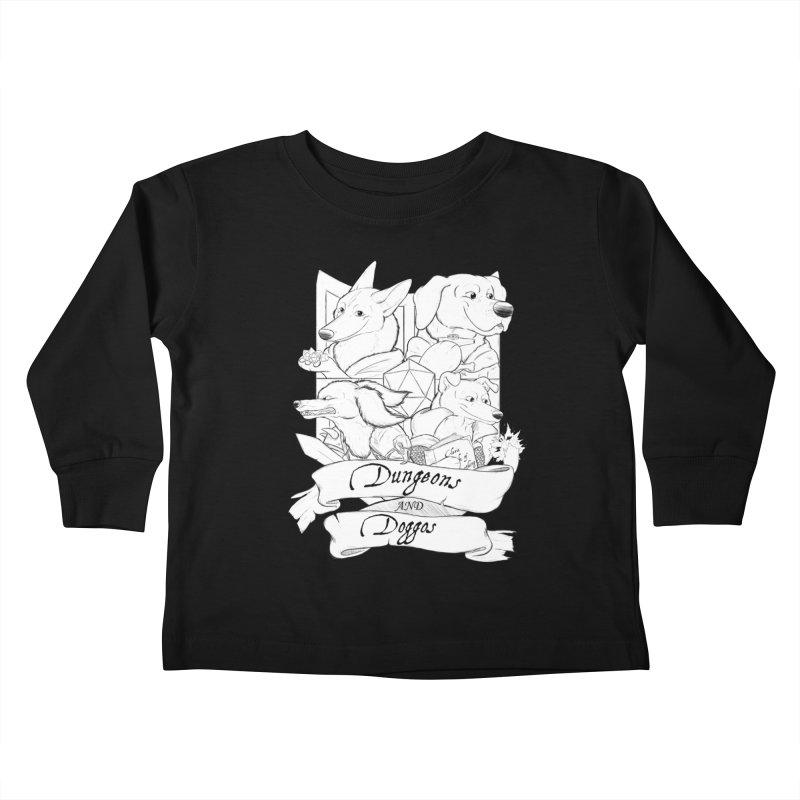 DnDoggos Emblem Kids Toddler Longsleeve T-Shirt by DnDoggos's Artist Shop
