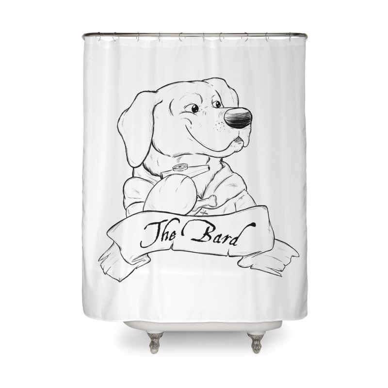 The Bard Home Shower Curtain by DnDoggos's Artist Shop