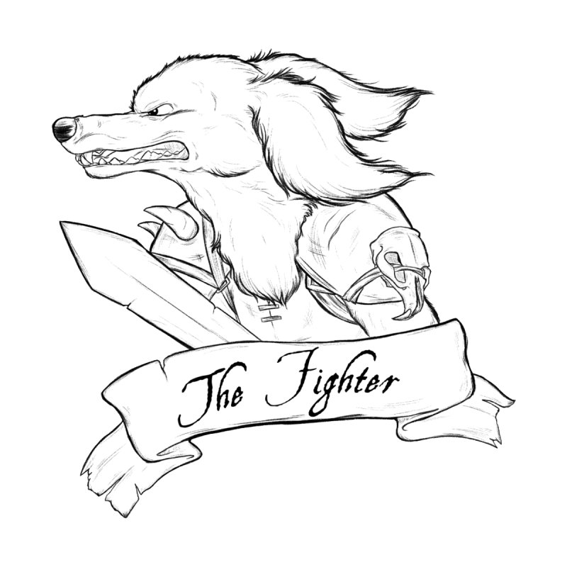 The Fighter Men's T-Shirt by DnDoggos's Artist Shop