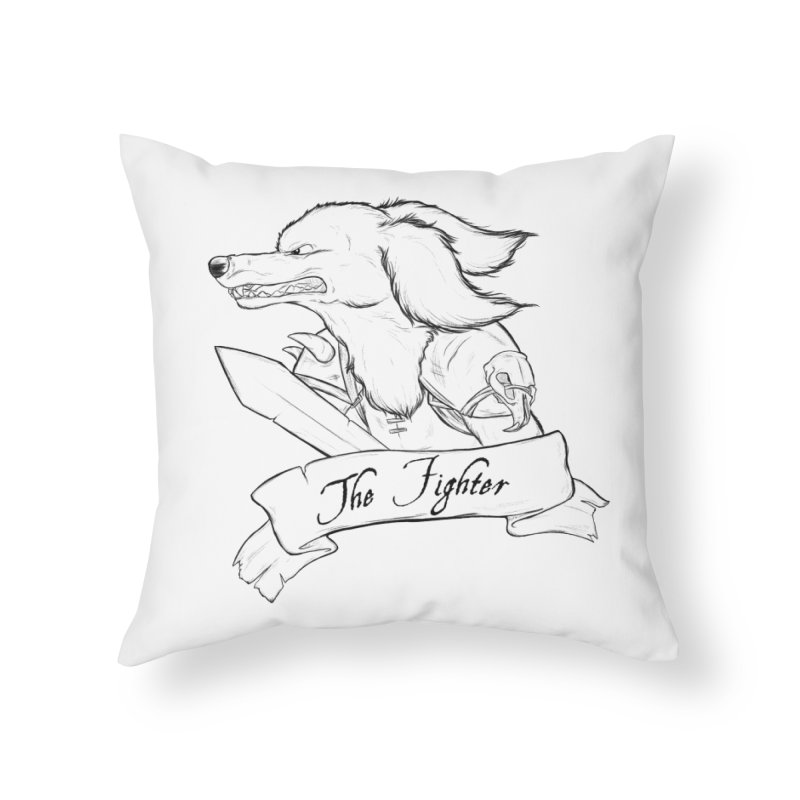 The Fighter Home Throw Pillow by DnDoggos's Artist Shop