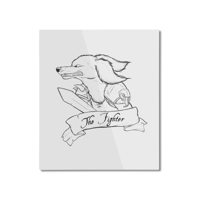 The Fighter Home Mounted Aluminum Print by DnDoggos's Artist Shop