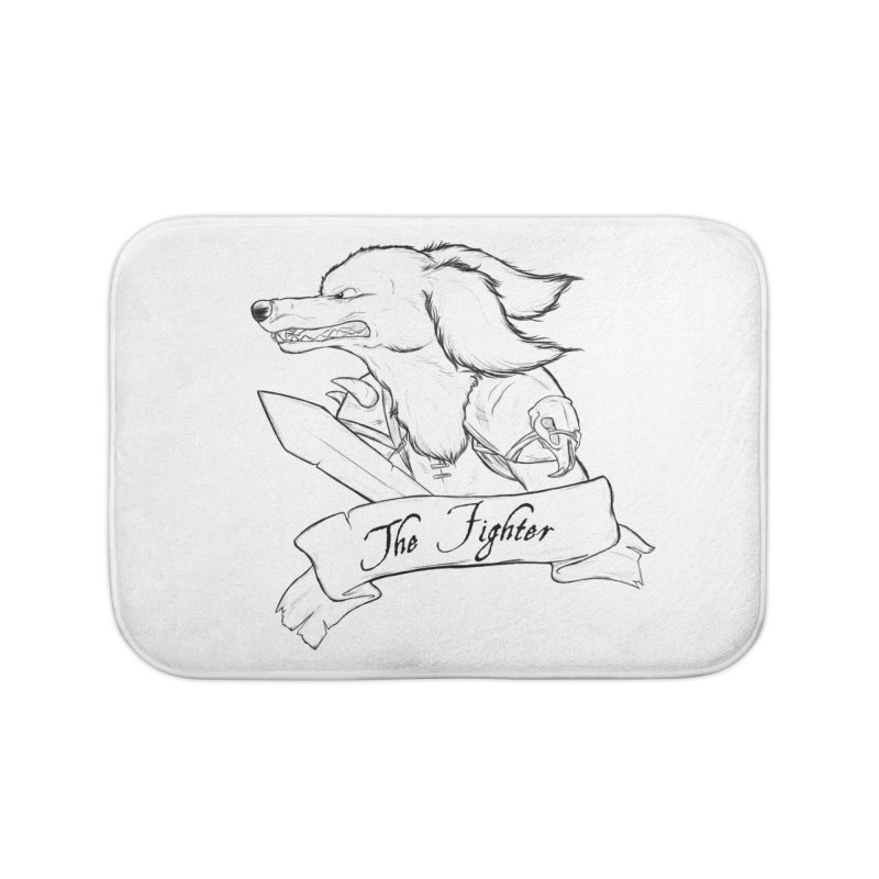 The Fighter Home Bath Mat by DnDoggos's Artist Shop