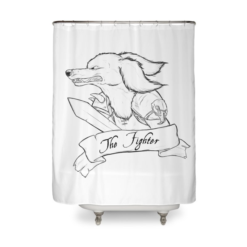 The Fighter Home Shower Curtain by DnDoggos's Artist Shop