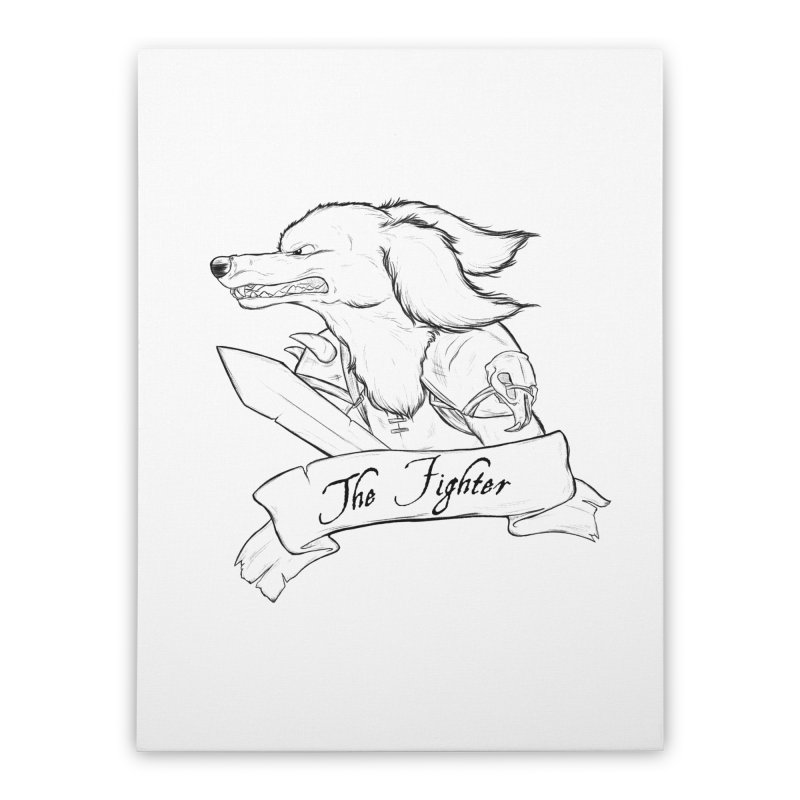 The Fighter Home Stretched Canvas by DnDoggos's Artist Shop