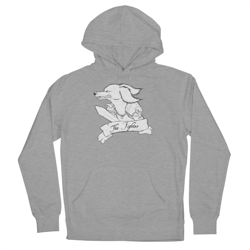 The Fighter Women's French Terry Pullover Hoody by DnDoggos's Artist Shop