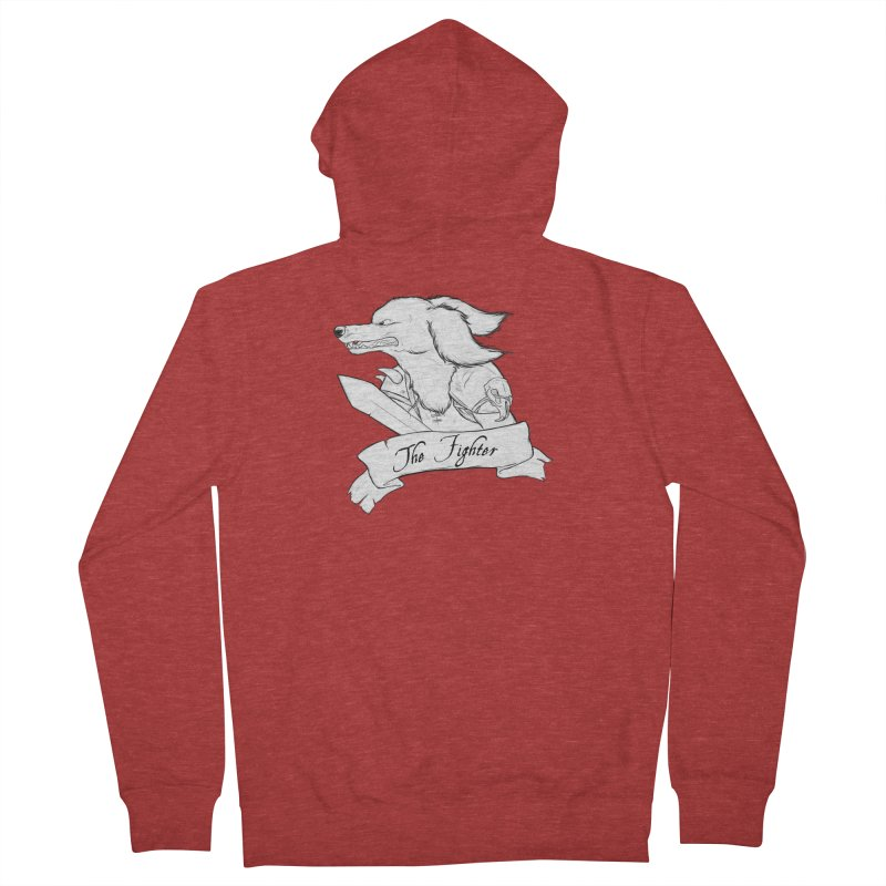 The Fighter Men's French Terry Zip-Up Hoody by DnDoggos's Artist Shop