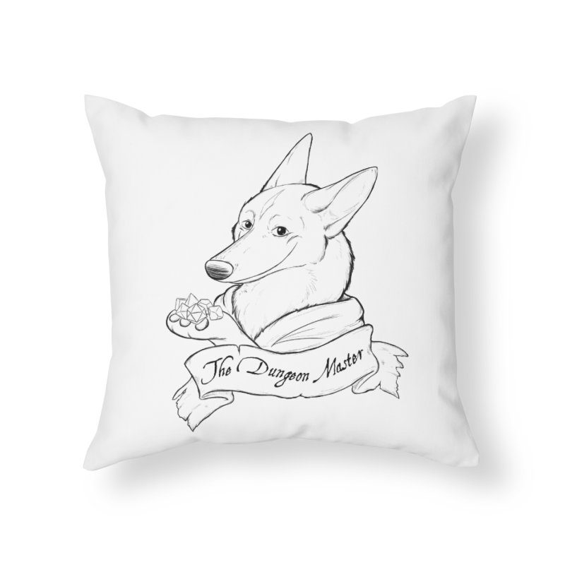 The Dungeon Master Home Throw Pillow by DnDoggos's Artist Shop