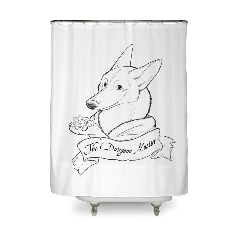 The Dungeon Master Home Shower Curtain by DnDoggos's Artist Shop