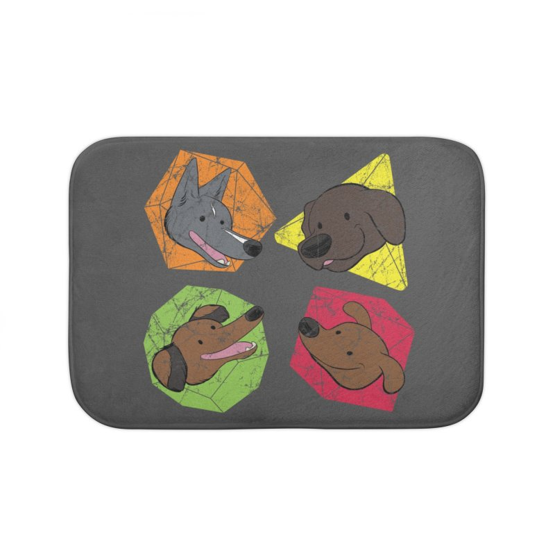 Happy Doggos and Dice Home Bath Mat by DnDoggos's Artist Shop