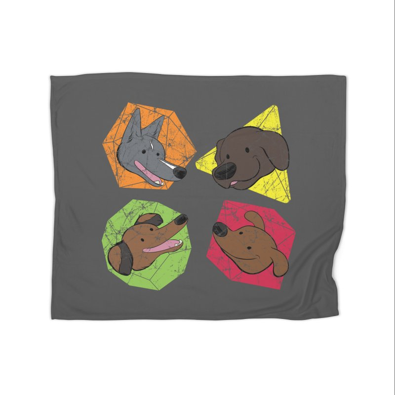 Happy Doggos and Dice Home Blanket by DnDoggos's Artist Shop