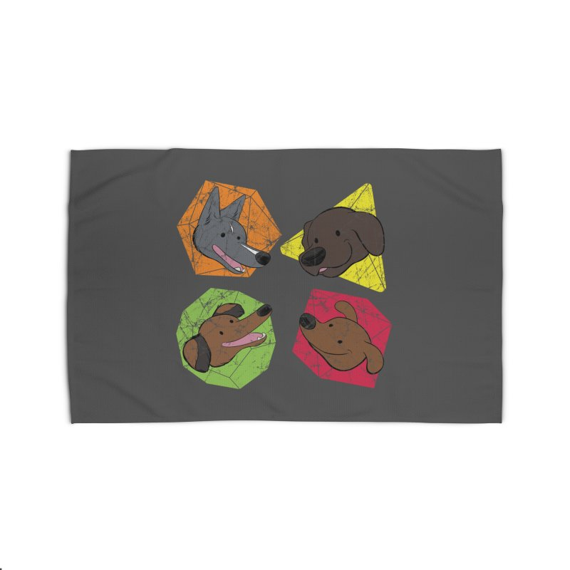 Happy Doggos and Dice Home Rug by DnDoggos's Artist Shop