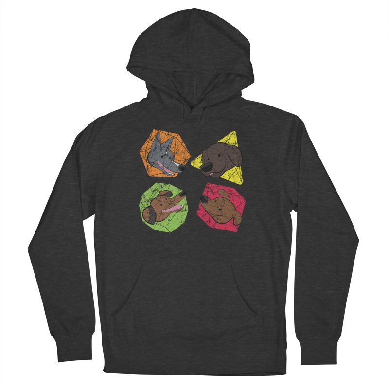 Happy Doggos and Dice Women's French Terry Pullover Hoody by DnDoggos's Artist Shop