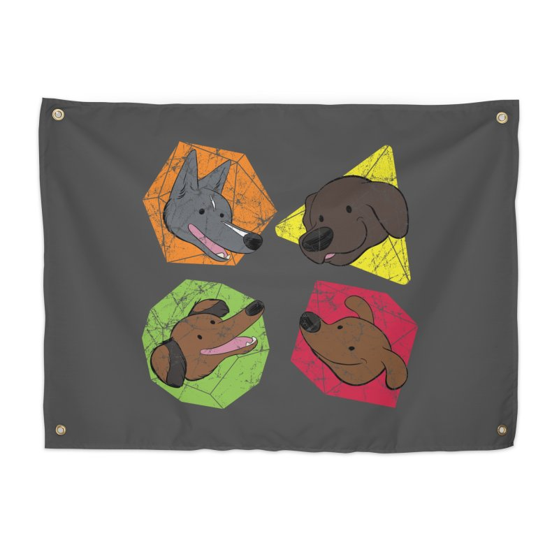 Happy Doggos and Dice Home Tapestry by DnDoggos's Artist Shop