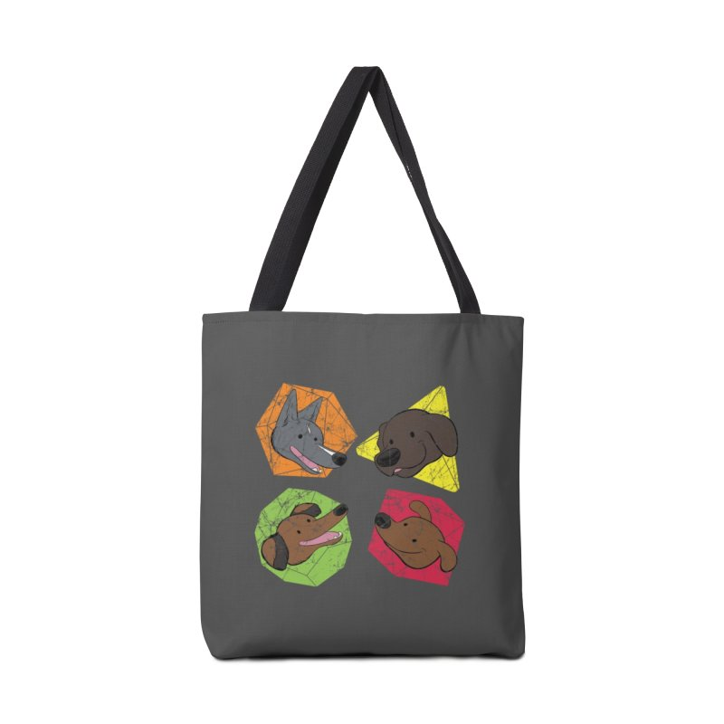 Happy Doggos and Dice Accessories Tote Bag Bag by DnDoggos's Artist Shop