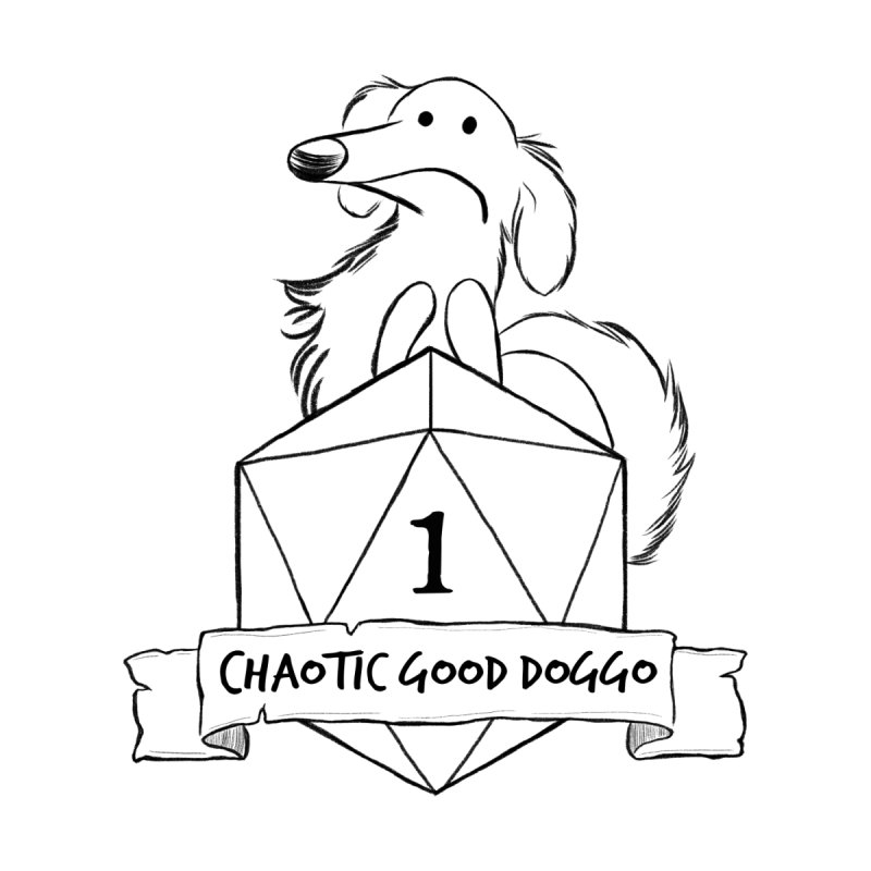 Worried Pickles the Chaotic Good Doggo Men's T-Shirt by DnDoggos's Artist Shop