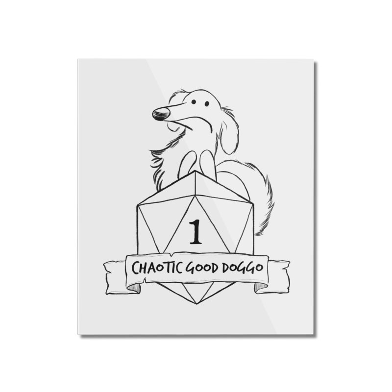 Worried Pickles the Chaotic Good Doggo Home Mounted Acrylic Print by DnDoggos's Artist Shop