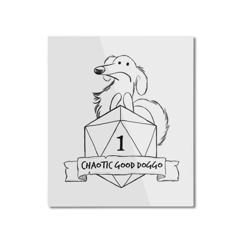 Worried Pickles the Chaotic Good Doggo Home Mounted Aluminum Print by DnDoggos's Artist Shop