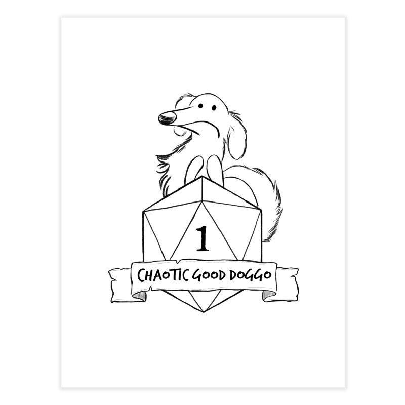 Worried Pickles the Chaotic Good Doggo Home Fine Art Print by DnDoggos's Artist Shop