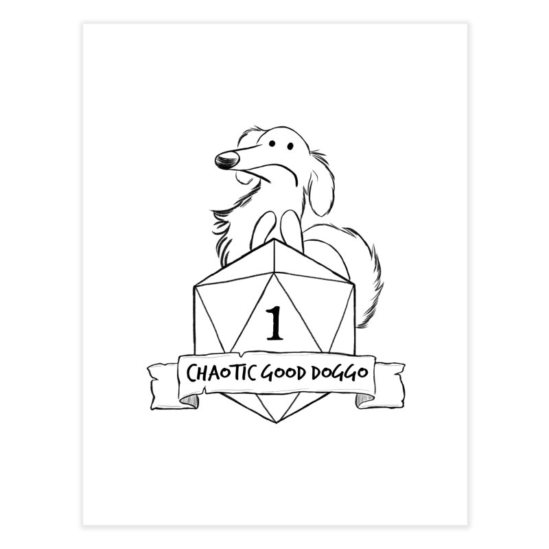 Worried Pickles the Chaotic Good Doggo Home Fine Art Print by DnDoggos's Artist Shop