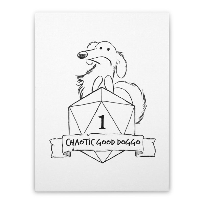 Worried Pickles the Chaotic Good Doggo Home Stretched Canvas by DnDoggos's Artist Shop