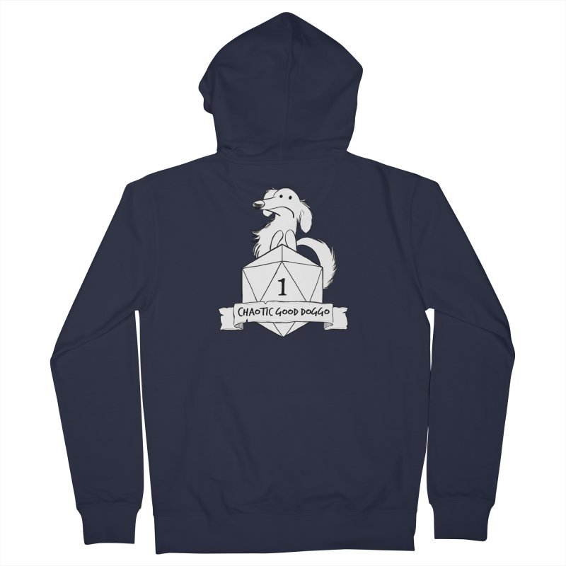 Worried Pickles the Chaotic Good Doggo Men's French Terry Zip-Up Hoody by DnDoggos's Artist Shop