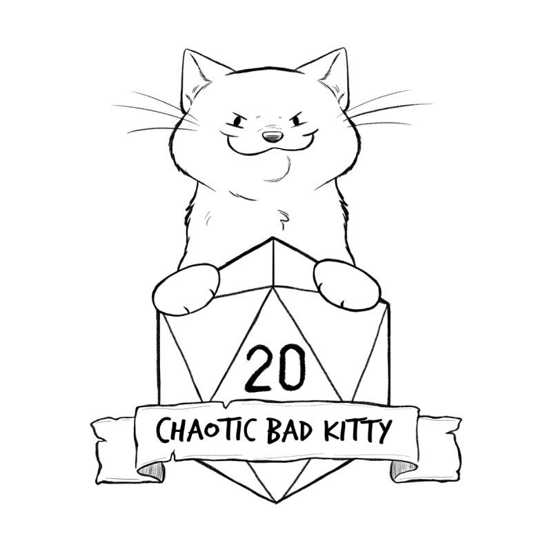 Chaotic Bad Kitty Men's Zip-Up Hoody by DnDoggos's Artist Shop