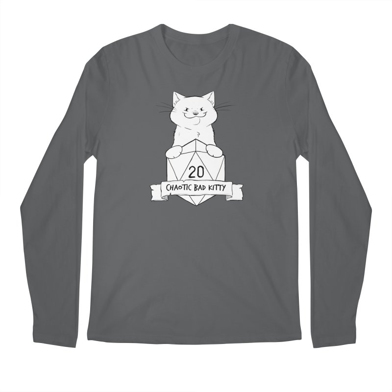 Chaotic Bad Kitty Men's Longsleeve T-Shirt by DnDoggos's Artist Shop