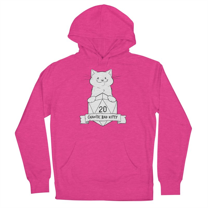 Chaotic Bad Kitty Women's French Terry Pullover Hoody by DnDoggos's Artist Shop
