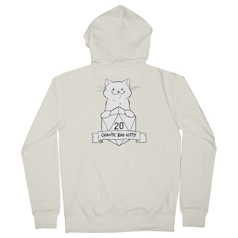 Chaotic Bad Kitty Men's French Terry Zip-Up Hoody by DnDoggos's Artist Shop