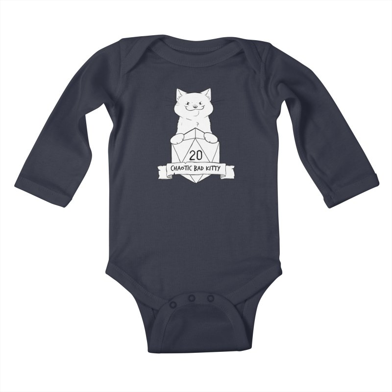 Chaotic Bad Kitty Kids Baby Longsleeve Bodysuit by DnDoggos's Artist Shop