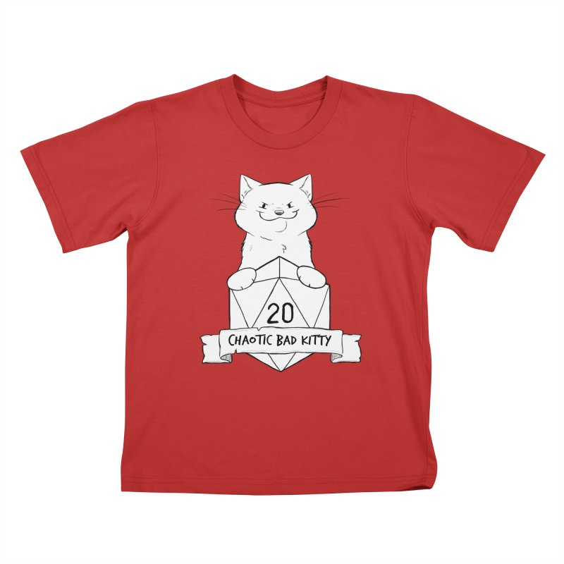 Chaotic Bad Kitty Kids T-Shirt by DnDoggos's Artist Shop