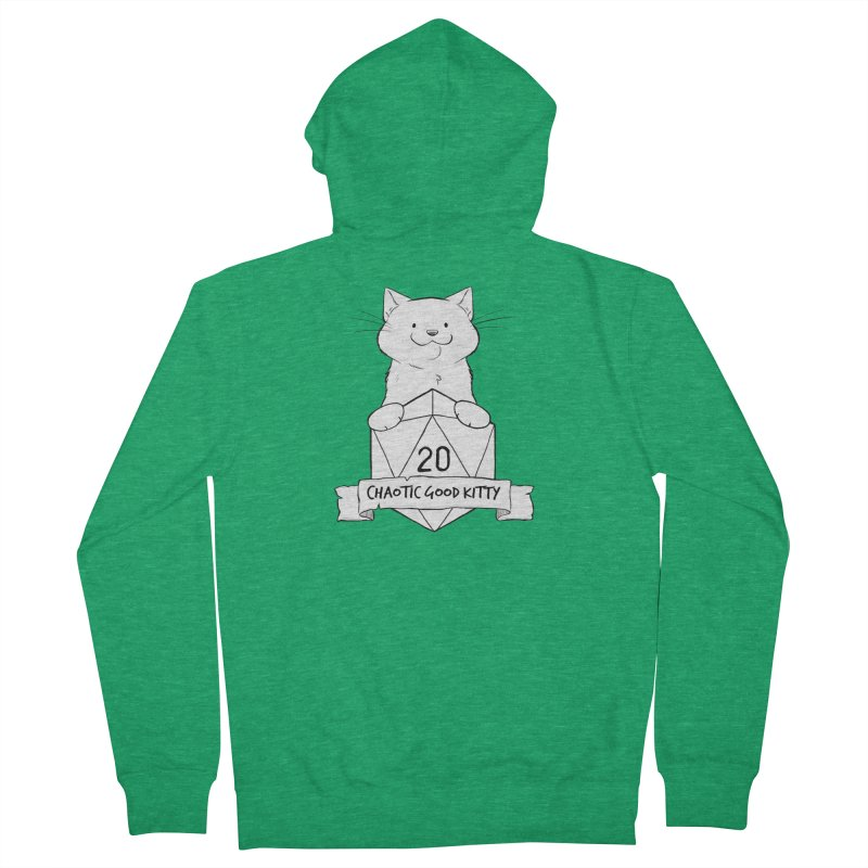 Chaotic Good Kitty Men's Zip-Up Hoody by DnDoggos's Artist Shop