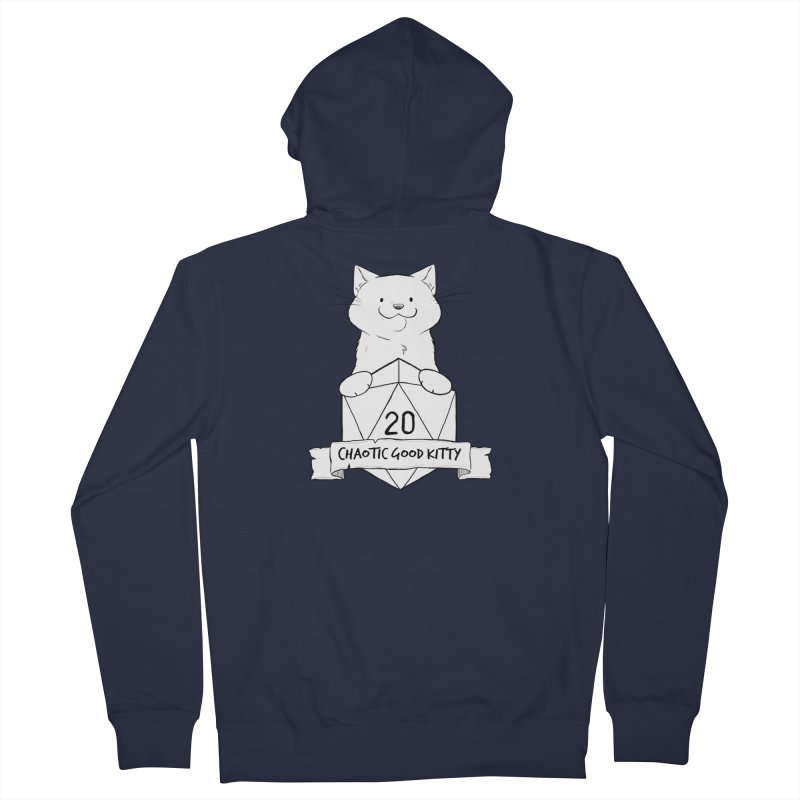 Chaotic Good Kitty Men's French Terry Zip-Up Hoody by DnDoggos's Artist Shop