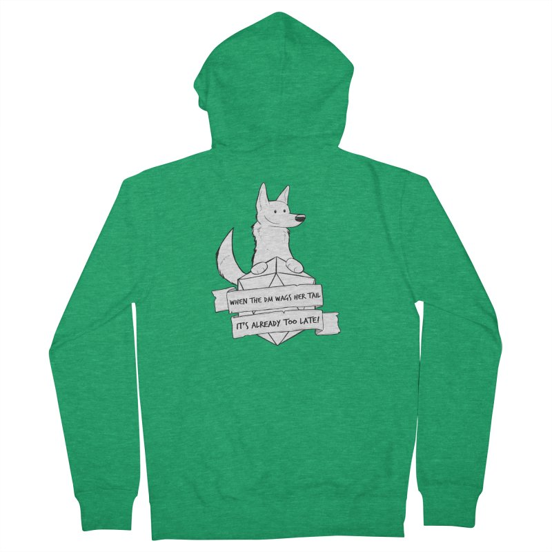 When the DM Wags Her Tail... Men's Zip-Up Hoody by DnDoggos's Artist Shop