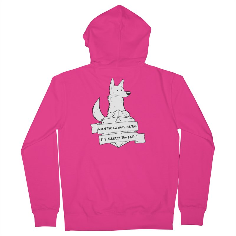 When the DM Wags Her Tail... Men's French Terry Zip-Up Hoody by DnDoggos's Artist Shop