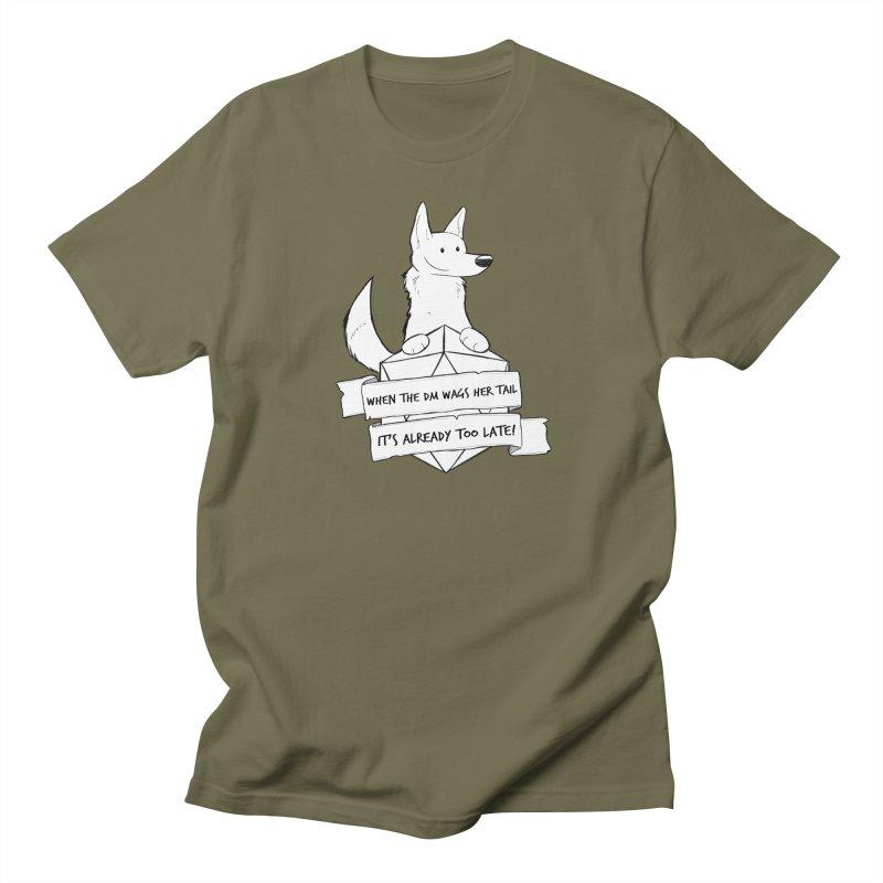 When the DM Wags Her Tail... Men's Regular T-Shirt by DnDoggos's Artist Shop