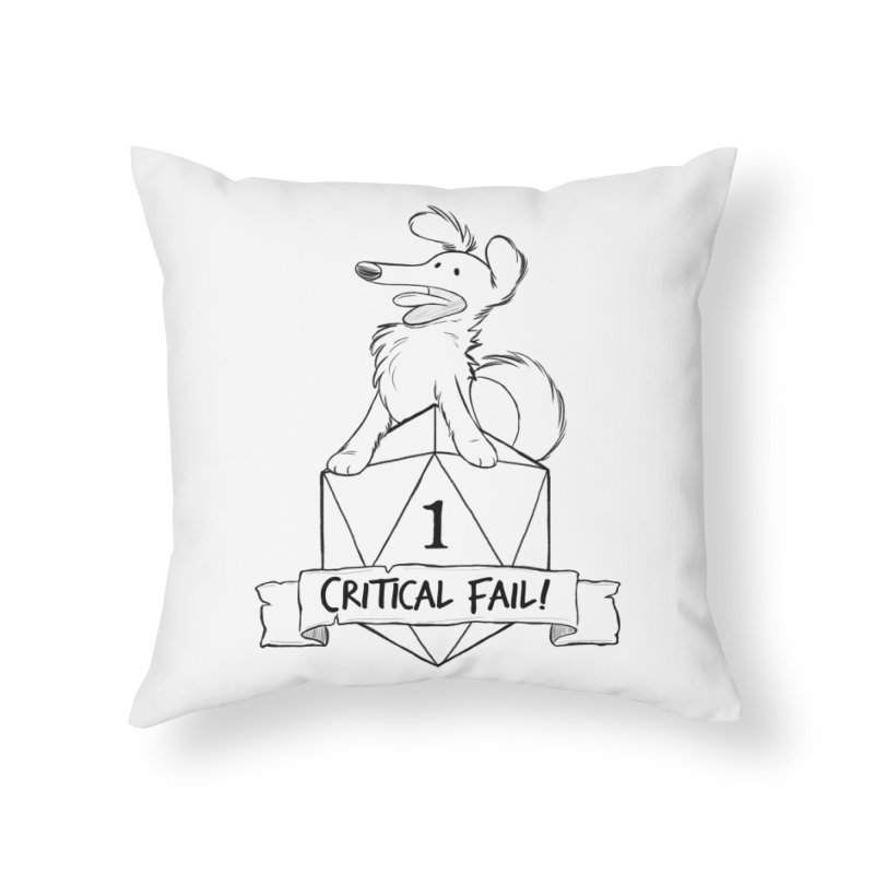 Critical Fail! - Pickles Home Throw Pillow by DnDoggos's Artist Shop