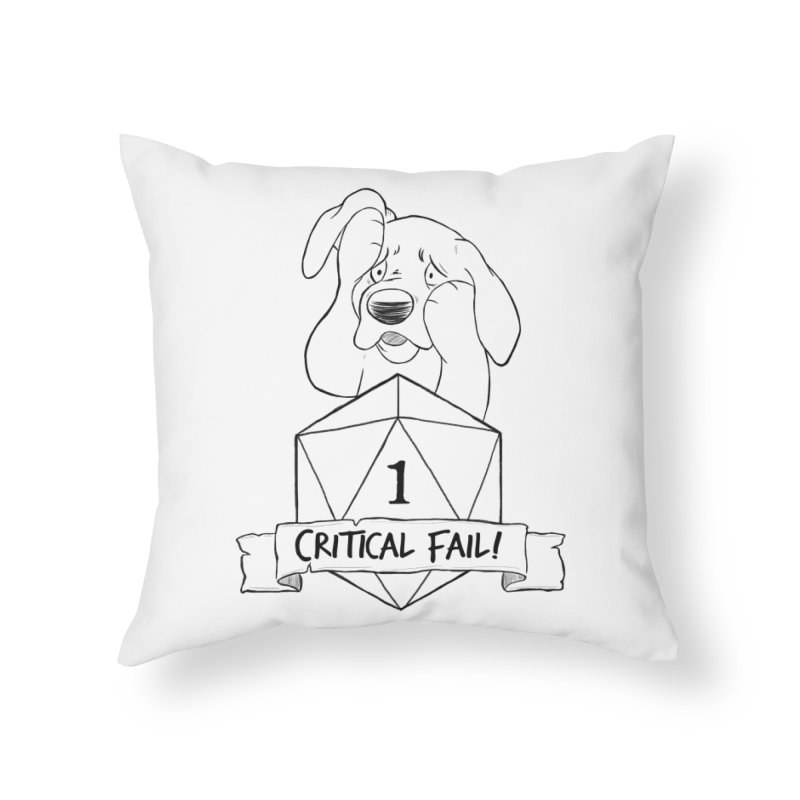 Critical Fail! - Tonka Home Throw Pillow by DnDoggos's Artist Shop