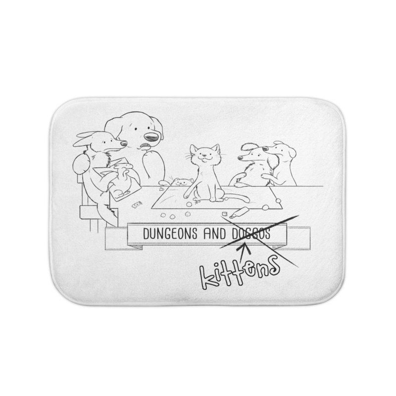 Dungeons and Kittens Home Bath Mat by DnDoggos's Artist Shop